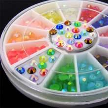 Diy украшения для ногтей смешанные цвета 3 мм ab желе акриловые