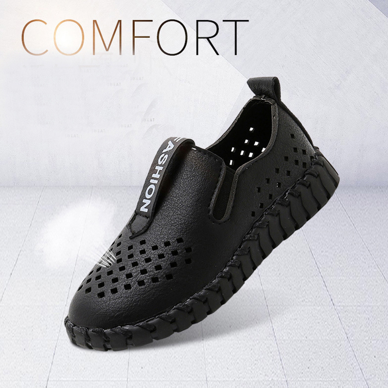 Boys Loafers Kids Leather Shoes Children Footwear Toddler Boys School Shoes Casual Fashion Kids Barefoot Shoes Boy Child Shoe