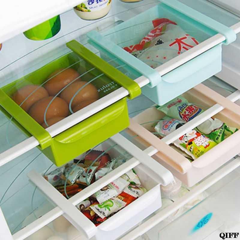 מטבח מקרר מחיצת תיבת אחסון מזון מחזיק ביתי טרי שמירה שכבות מארגני מגירה כלי JUN05