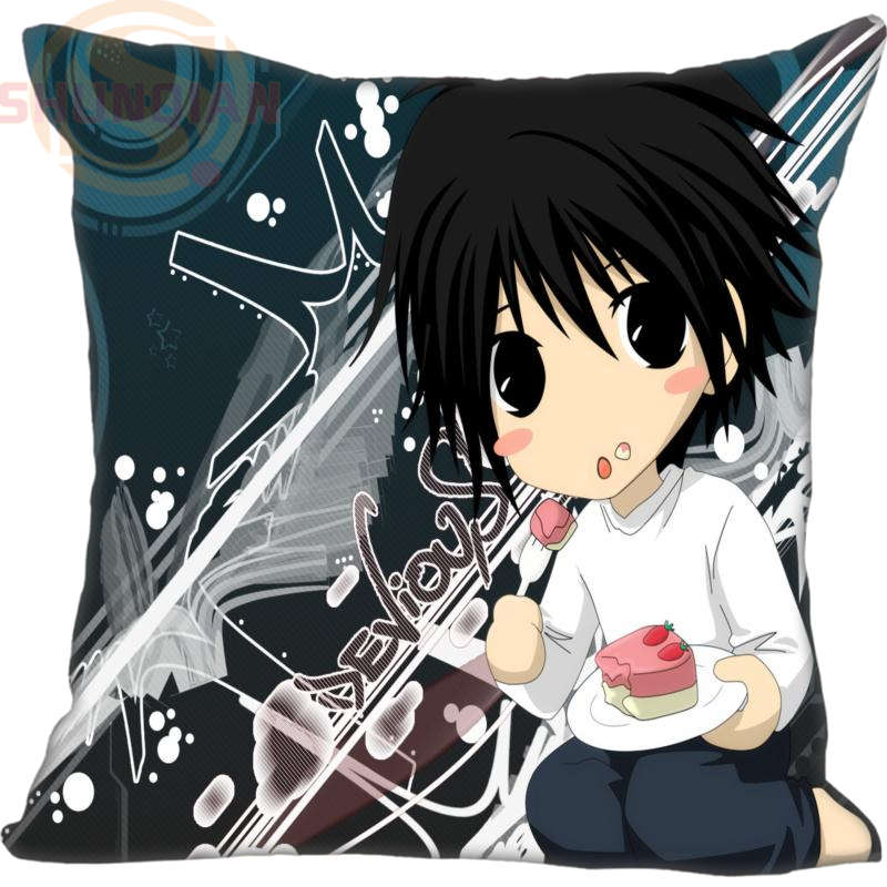 New Death Note Pillowcase Wedding Decorative Pillow Case Customize Gift For Pillow Cover 35X35cm,40X40cm(One Sides)