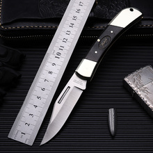 Outdoor folding knife self-defense wilderness survival with high hardness wild fruit in a straight line
