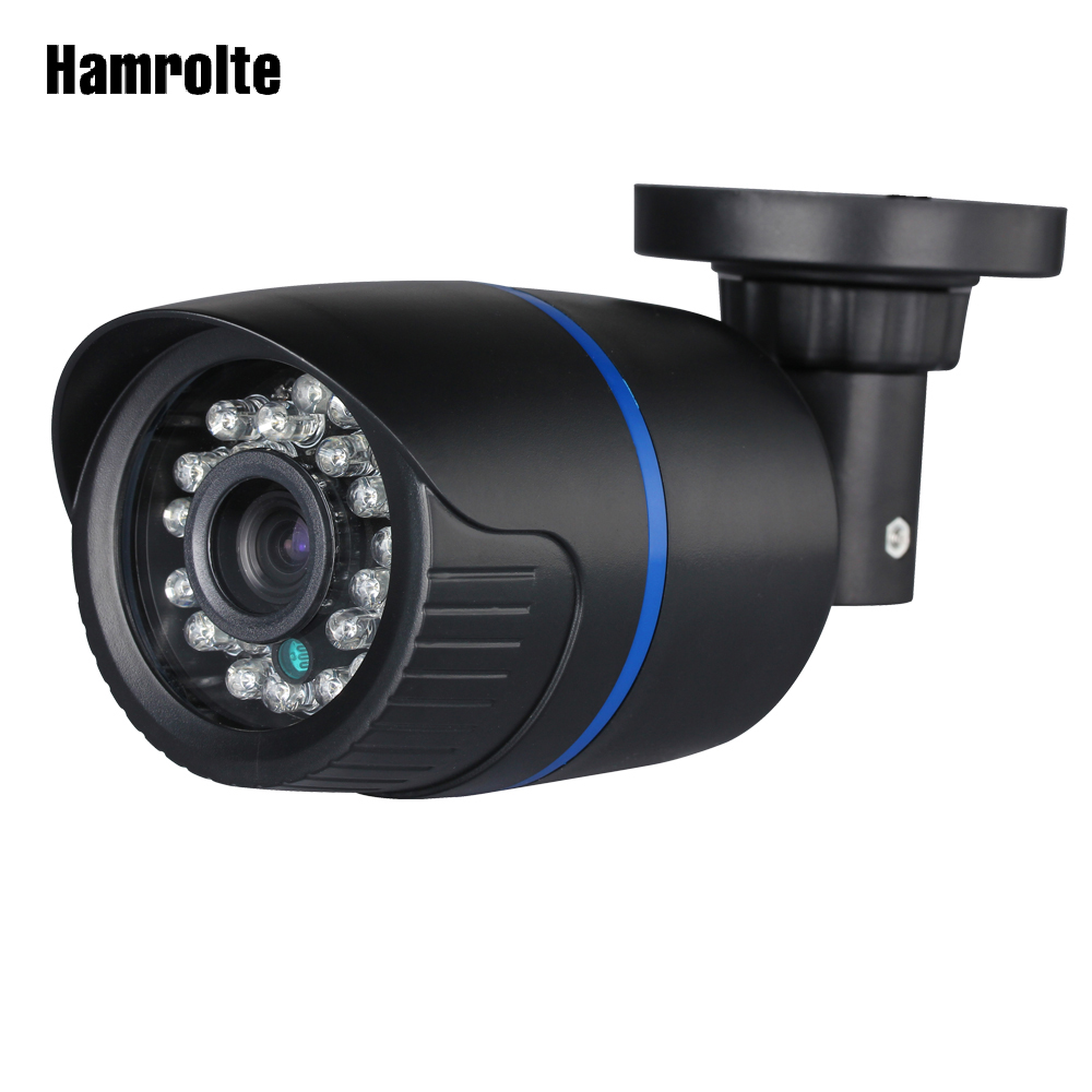 Hamrolte AHD Camera 1080P/720P High Resolution 2.8MM Wide Angle Lens Nightvision Waterproof Bullet Outdoor Camera CCTV Camera