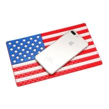 26*15.5cm Non-Slip Pad China UK US Germany Flag Auto Interior Accessories for Phone GPS Coin Key Holder Anti Slip Mat