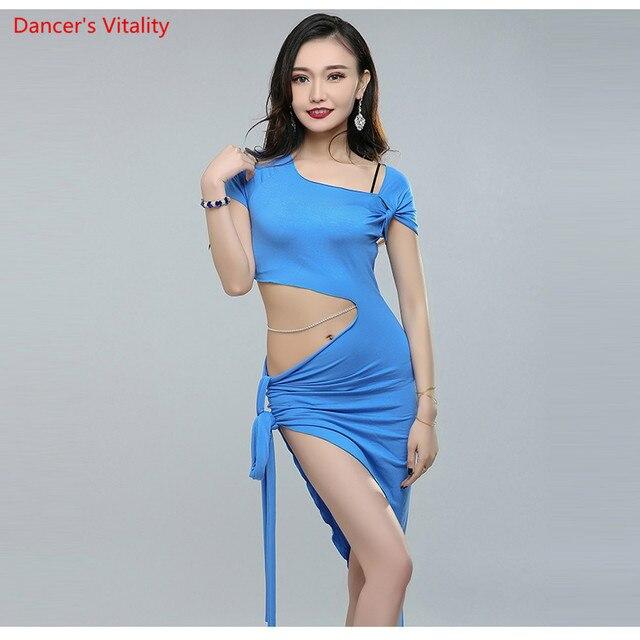 Dalla fasciatura Delle Donne di Disegno di Concorrenza di Alta Qualità Costumi di danza del Ventre Danza Del Ventre Vestito Da Prestazione Della Fase 3 di colore