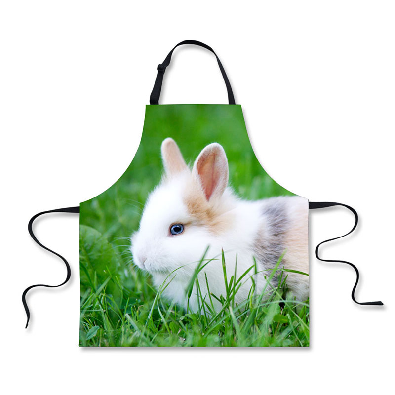 Objective High Quality 3d Lovely Long Eared Rabbit Pattern Printing Home Leisure Fashion Kitchen Aprons Luggage & Bags