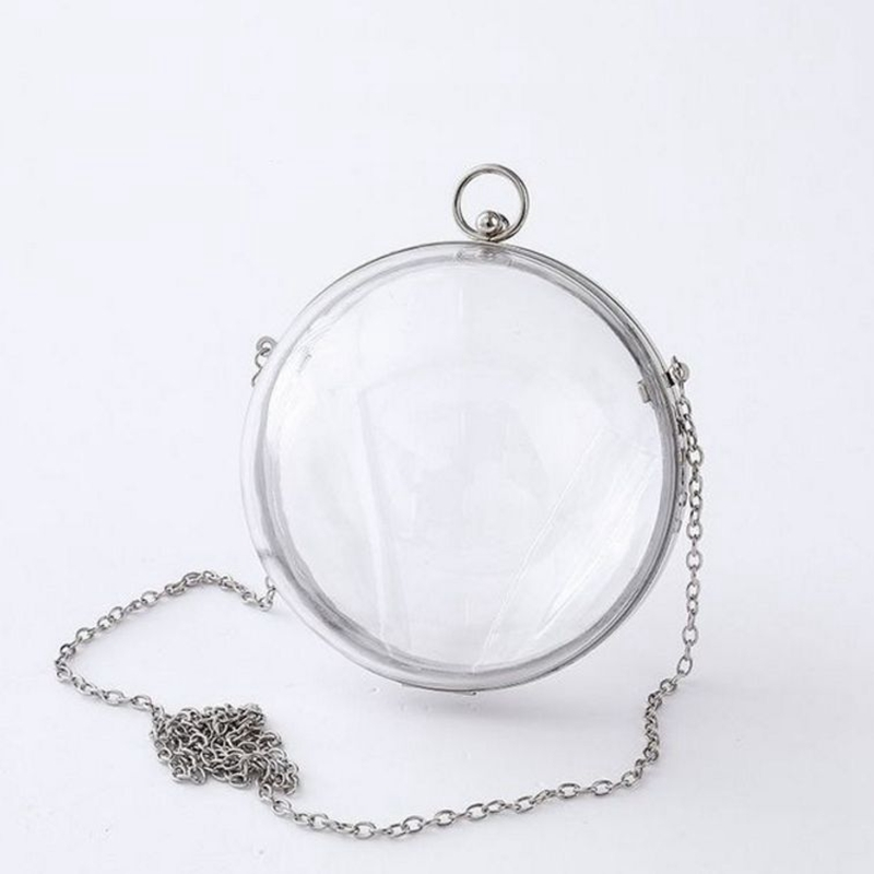 159fefef7736 Women Circle Handbag Transparent Bag Acrylic Round Chain Crossbody Bags  Spring Summer Totes Money Purse Phone