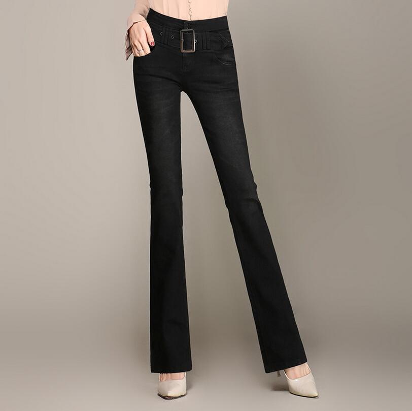 Qualità Alta Slim Autunno Pantaloni Vita Donna 1 4 color Color Jeans Denim color 6 color Più Da Formato Il Femminile A Di W602 2 Flare 4xl 5 7 color color Inverno 3 color IqYrn7IwT