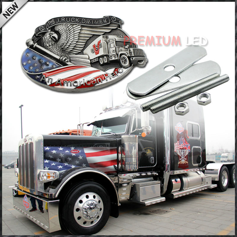 (1) Patriot The Truck Driver, An American Hero Decoration Emblem Badge For Truck Front Grille an american tragedy