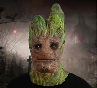 Latex Halloween Adult Treeman Mask Full Face Scary Halloween Breathable Mask Cosplay Ghost Fancy Ball Party Animal Masks