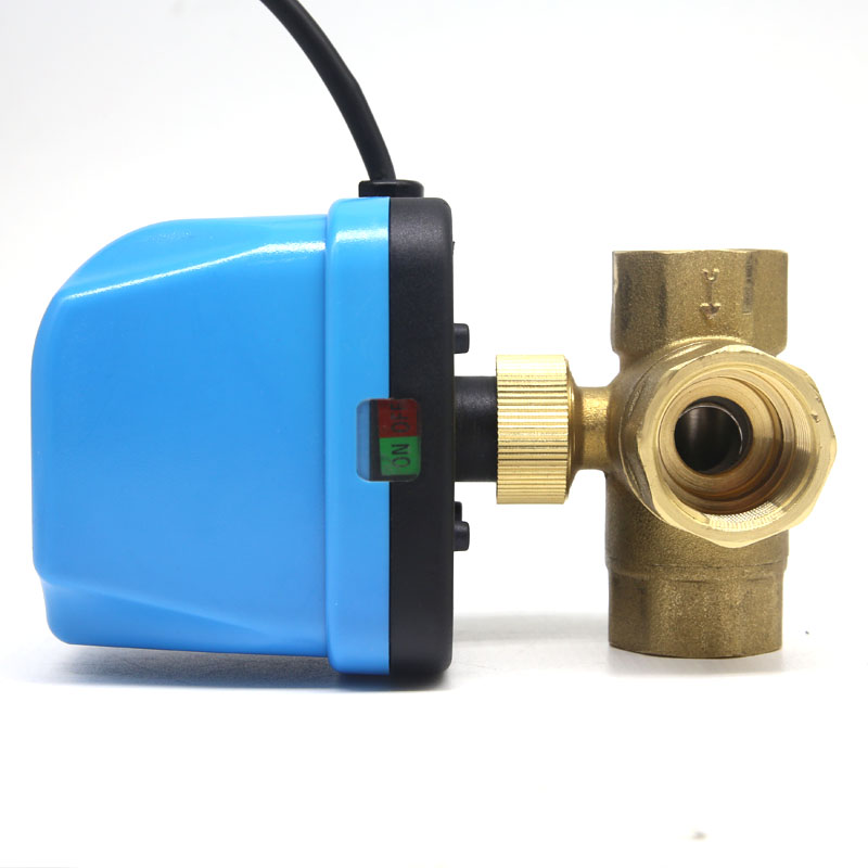 Newest DN25 G1.0 Tee Electric Valve AC220 Volt,cold&hot Water/Water vapor/heat gas/Central air conditioning Electric Ball Valve free shipping brass mini electric ball valve central air conditioning running water water vapor heat gas electric valve ac220v