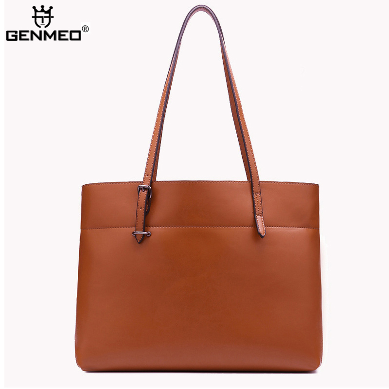 New Arrival Genuine Leather Fashion Handbags 2017 Women Cow Leather Shoulder Bags Ladies Shoulder Bag Female Messenger Bag Bolsa genuine leather bags ladies real leather bags fashion vintage women handbags casual chain shoulder bag female fashion bolsa 2017