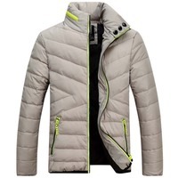 Men White Duck Down Jackets Brand Clothing Mens Casual Man Jackets Down Fashion Winter Coat