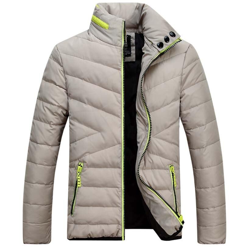 Для мужчин Белые куртки-пуховики брендовая одежда Для мужчин S Повседневное человек Куртки Подпушка Модное зимнее пальто