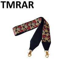 2019 nowe torebki pasek klasyczny design haft złota klamra płótno paski do torby nowe modne łatwe trzymanie paski na ramię qn203 tanie tanio TMRAR Fabric 300g GOLD