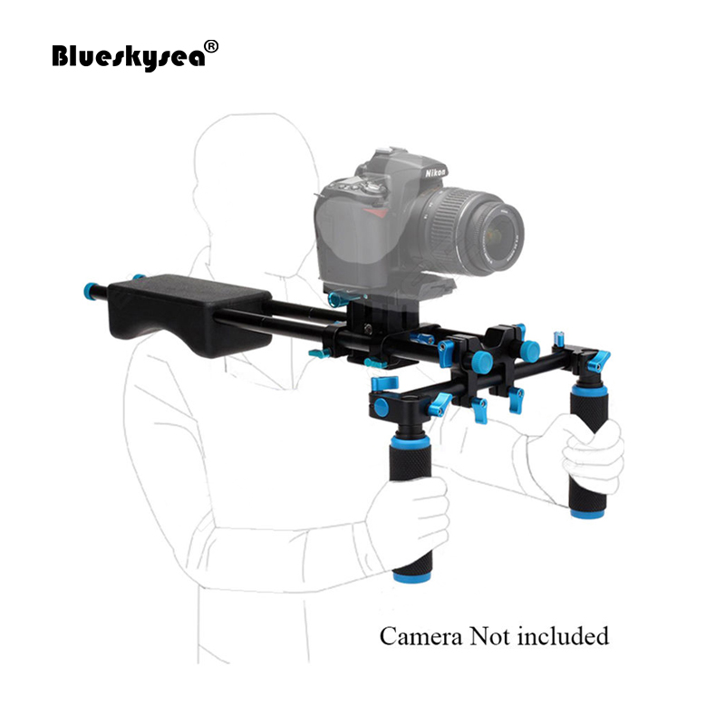 Blueskysea D2 DSLR Rig Camera Mount Head Handheld Video Shoulder Movie Kit Support Camera Holder  For NIkon Canon Camera GH4 dslr rig movie kit shoulder mount for dv canon sony nikon pentax camera