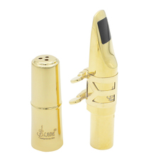 High Quality A2 Alto Saxophone Mouthpiece Metal Gold Plated Sax Mouth Size 5C 6C 7C 8C(Optional)  for Classical Jazz Music metal mouthpiece high quality gold plated alto tenor soprano saxophone metal mouthpiece metal nozzle to the jazz music