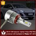 Noite Senhor C6F 3800LM H8/H9/H11 Farol Do Carro lâmpada de Cabeça com fã mudo Baixo Feixe feixe de Cruzamento para Mazda 3 2011-2015 acessórios
