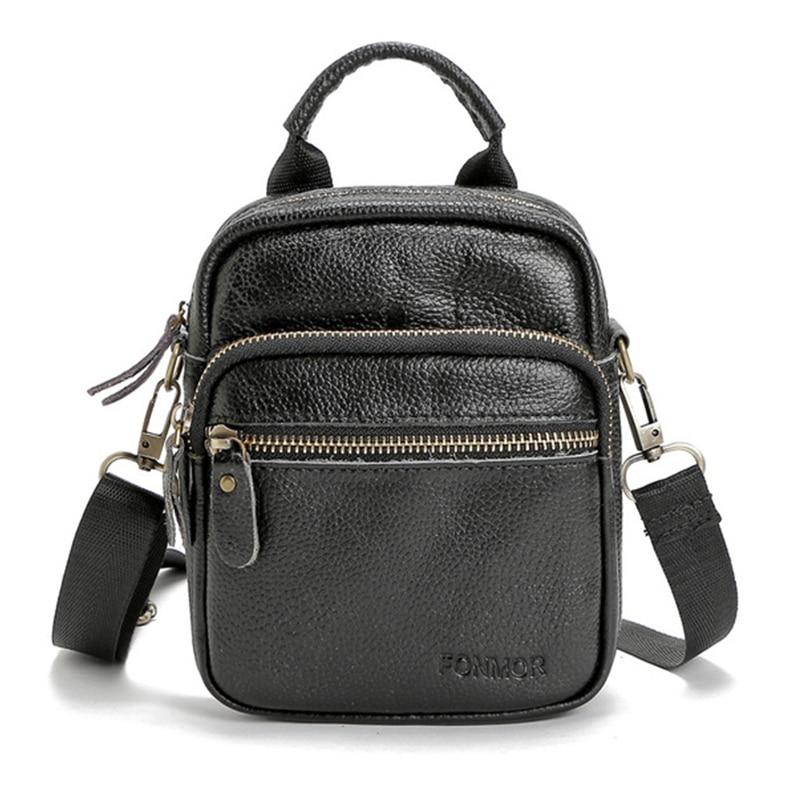 Small Men Messenger Bag Casual Handbags Business Shoulder Bag For Men Genuine Leather Mini Crossbody Bag Bolsa Masculina WBS435