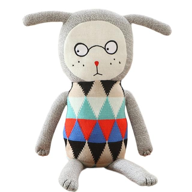 INS caliente Lucky Boy Domingo peluche mano muñecas Crochet suave ...