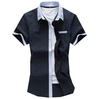 plus size 7xl pocket mens shirt sleeve shirts fashion 2017 summer  dress good quality social