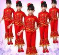 2016 caliente clásico chino danza dress de la muchacha trajes de danza yangko nacional chino traje ropa del funcionamiento de los niños