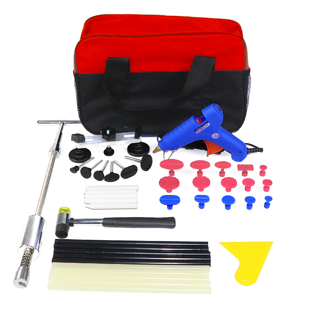 PDR Tools Dent Puller Kit Tool To Remove Dents Auto Repair Tool Car Body Repair Kit Dent Removal Slide Hammer Pulling Bridge pdr toolkit auto repair tool to remove dents car body repair paintless dent repair pulling bridge 12 v glue gun