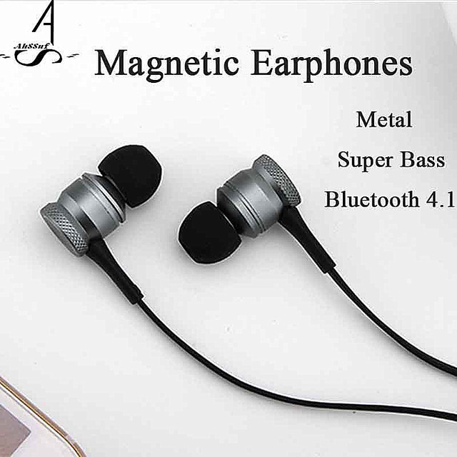 AhSSuf true wireless earbuds Metal surrounding audifono bluetooth inalambrico magnetic bass Sports consumer electronics with Mic