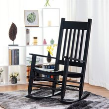Solid Wood Porch Patio Backyard Rocking Chair High Quality Living Room Arm Chairs Rocking Chairs HW58867(China)