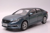 1:18 Diecast Model for Hyundai Sonata 9 Blue Alloy Toy Car Miniature Collection 9th Generation