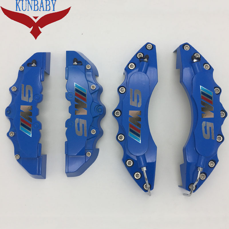 KUNBABY Blue Silver Screws Brake Caliper Cover Model 7 Chrome M5 Logo Car Styling Decoration For BMW With 18'' And Greater niko 50pcs chrome single coil pickup screws