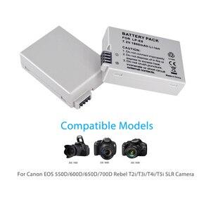 Image 5 - PALO 2Pcs 1800mah LP E8 LPE8 LP E8 Batteria Batterie AKKU + LCD Dual Caricabatteria per Canon EOS 550D 600D 650D 700D X4 X5 X6i X7i T2i