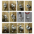 2016 year of the monkey jewelry 999 sterling silver animal charms chinese zodiac mascot small charms DIY pendants money jewelry