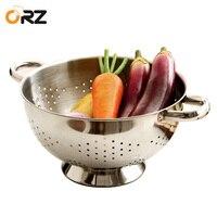 ORZ Mutfak Süzgeç Paslanmaz Çelik Süzgeçler Draning Sepet Meyve Sebze Yıkama Kaçak Havzası Pot Kase Yıkama Meyve Sepeti