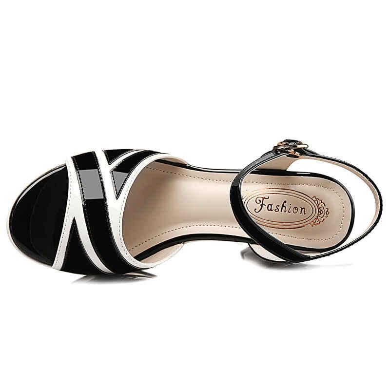 Gktinoo Giày Sandal Nữ Peep Toe Khóa Dây Giày Mùa Hè Thời Trang Nữ Dày Giày Cao Gót Võ Sĩ Giác Đấu Giày Sandal Nữ Sandalias
