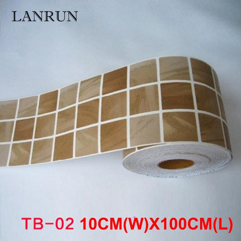 5M Waist Line Wall Sticker Köksvrist Linje Lim Toalett Badrum - Heminredning - Foto 5