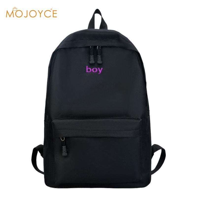 Stylish Unisex Black Backpacks Boys Girls Rucksack Preppy Style Couple Travel School Bags Big Backpack Mochila