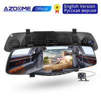 AZDOME PG06 Night Vision Car Dvr Camera Rearview Mirror Digital Video Recorder Auto Camcorder Dash Cam FHD 1080P dual len