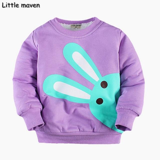 Little maven winter girls brand clothes children warm brushed cotton lovely rabbit thick Hoodies & Sweatshirts WY008