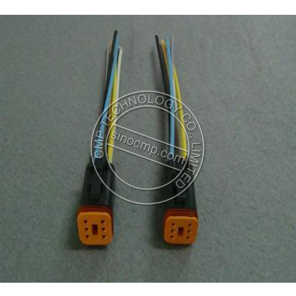 E320B Excavator Drive Panel Connector Cable with 6 holes