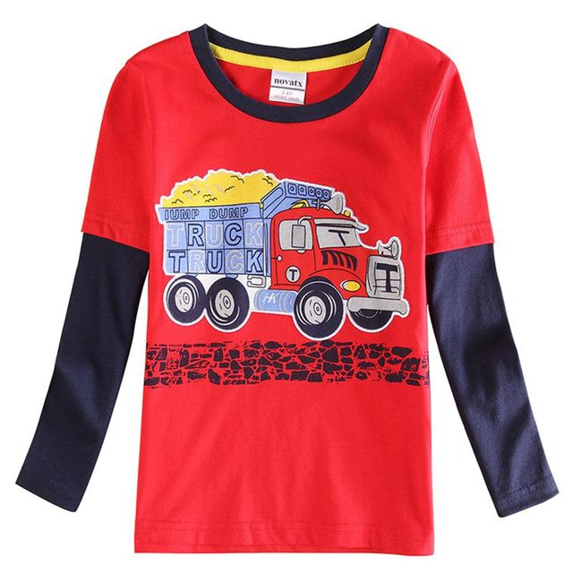 Футболки для мальчиков apring осенние дети футболку печати повседневная новинка рубашка 100% хлопок бобо выбирает мальчиков одежды малыша