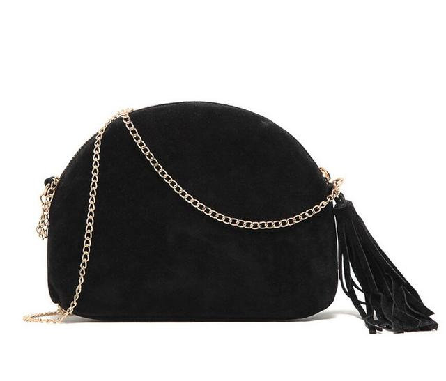 M571 Specific Character Concise Tassels Imitation Leather Half Round Dull Polish Messenger Bags Small Size Women  Gift Wholesale
