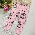 CP169 Cartoon girls and boys straight trousers soft warm winter children  pants  leggings retail baby pants