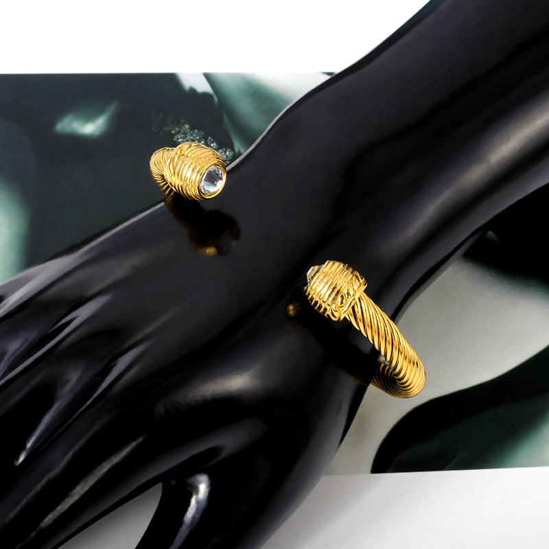 Brand Multi Design Twisted Cable Wire Bangle Vintage Fashion Bangles Cuff Bracelet Women Men Unique Designer Christmas Gift