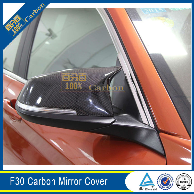 M3 M4 Look Carbon Fiber Rear View Side Mirror Cover For BMW F20 F21 F22 F23 F30 F31 F32 F33 F36 image