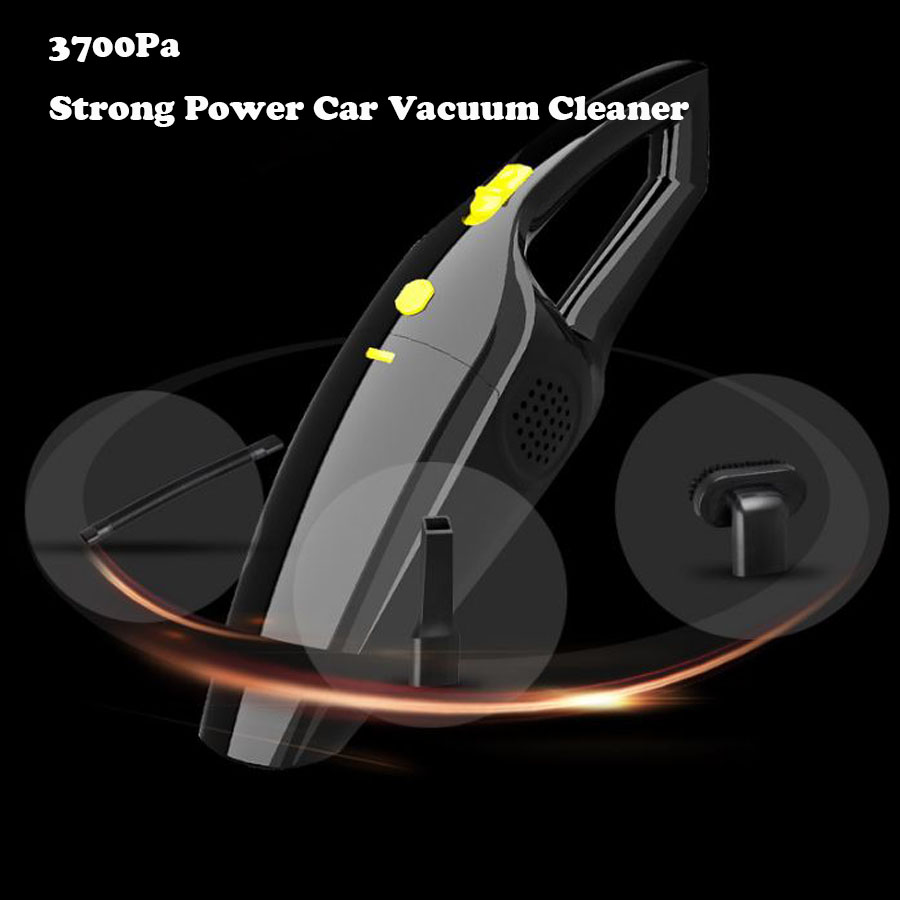 Car Vacuum Cleaner Wet And Dry Dual Use 12V 120W High Power Cleaner 3700Pa Auto Portable Vacuum Cleaner HEPA