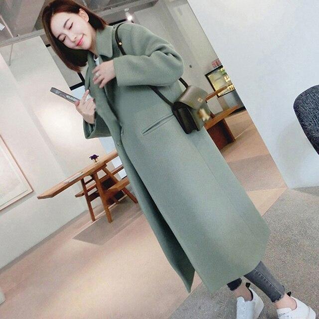 Manubeau nueva espesar abrigo de viento mujeres Turn-down Collar Outwear  chaqueta Casual Otoño Invierno df66ef87c32a