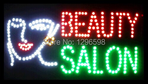 CHENXI Special Offer Hot Sale Graphics 15mm indoor Ultra Bright 24X13 Inch BEAUTY SALON Business Shop sign of led