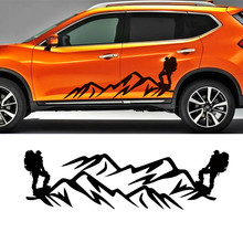 car sticker cool extreme sport mountain climbers on the mountaintop accessories decal custom for nissan x-trail