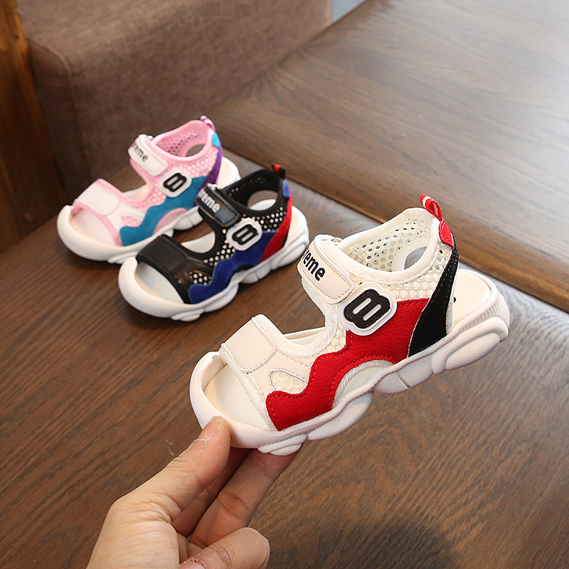 2019 1 5 Y Quality Baby Sandals Summer Boys Girls Shoes Breathable Infant Sneakers Newborn Soft Bottom Shoes Casual First Walk in Sandals from Mother Kids