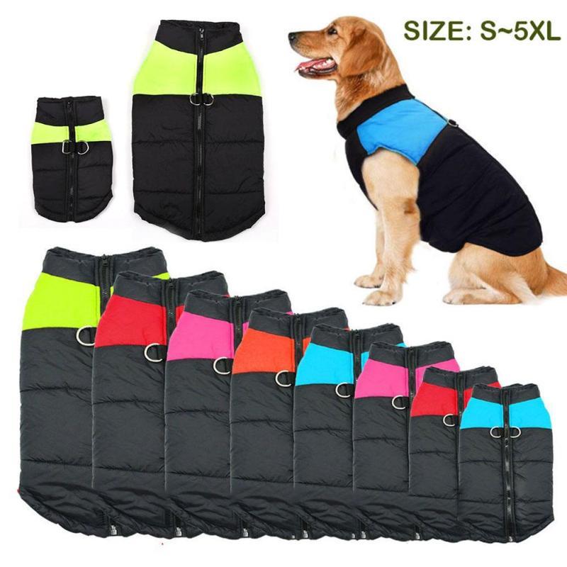 Impermeable perro chaleco Chihuahua ropa de invierno cálido ropa de abrigo para perro pequeños perros grandes 7 colores S-5XL s3